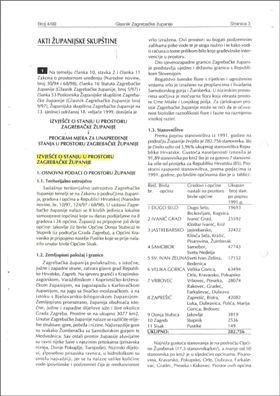 Izvješće o stanju u prostoru do 1999.