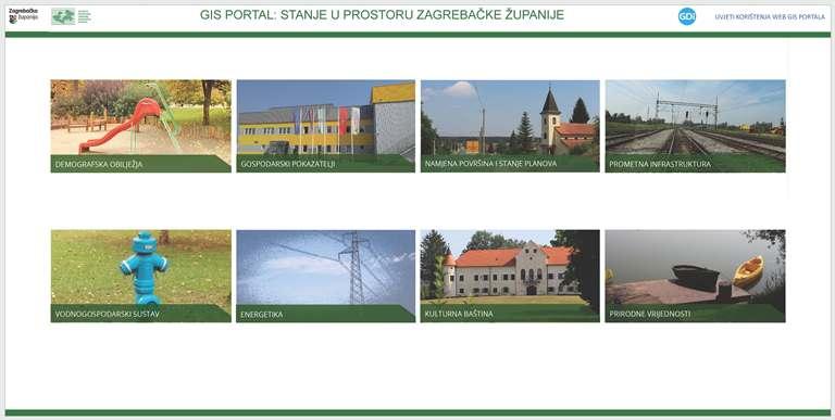 WEB-GIS portal 'Stanje u prostoru Zagrebačke županije'