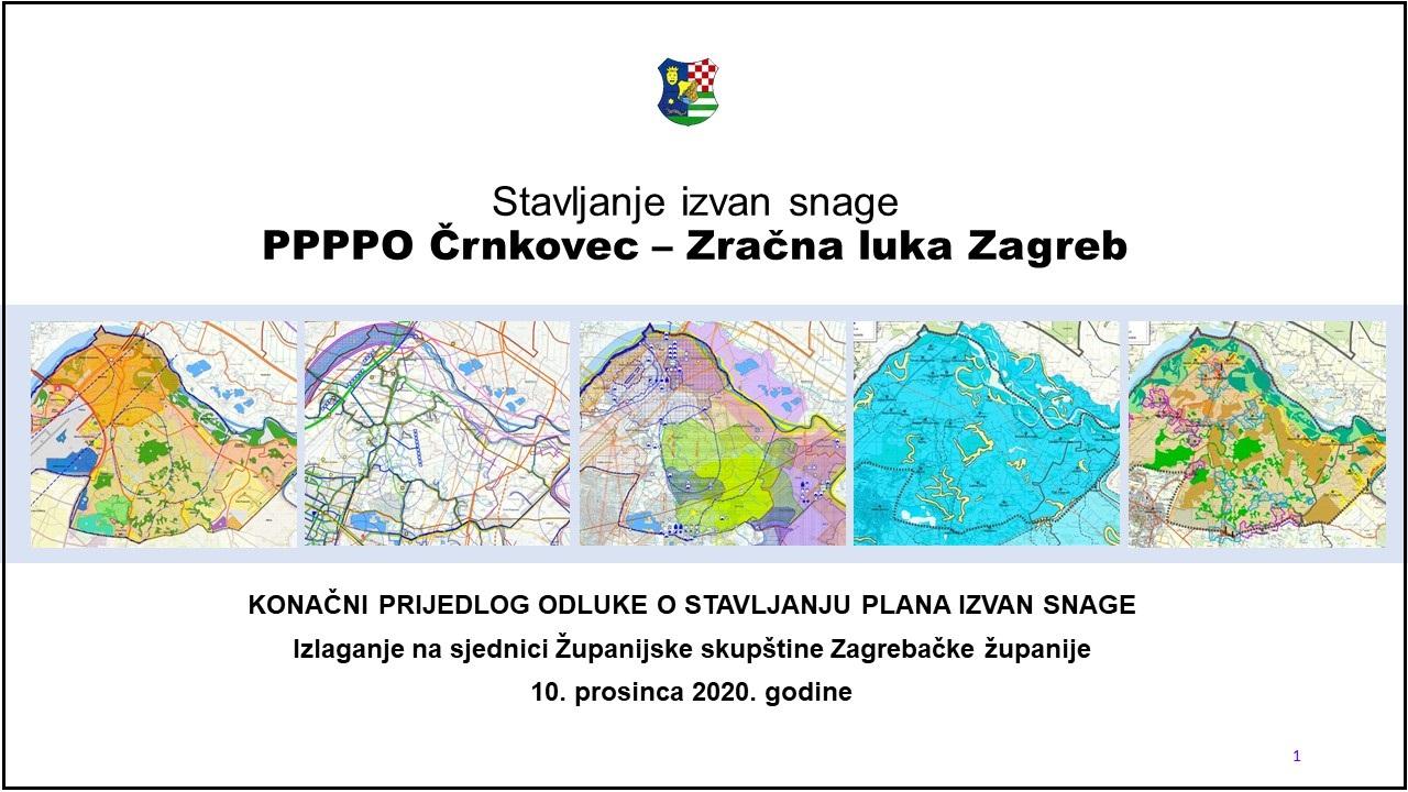 Prostorni plan Črnkovec – Zračna luka Zagreb stavljen izvan snage