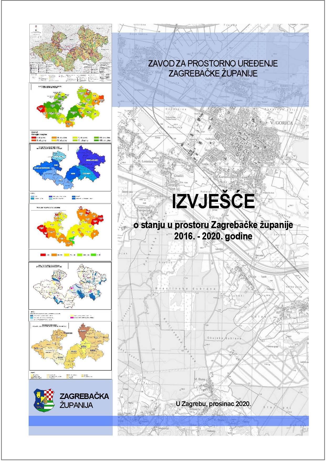 Objavljeno Izvješće o stanju u prostoru Zagrebačke županije 2016. – 2020. godine - slika 1