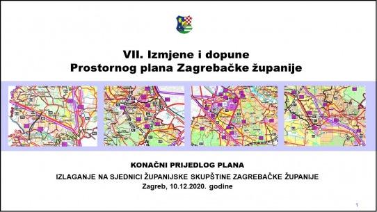 Donesene VII. Izmjene i dopune Prostornog plana Zagrebačke županije