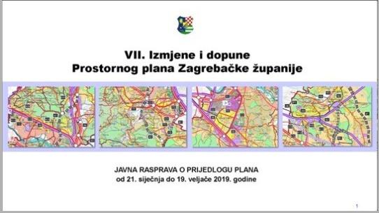Objavljena Javna rasprava o Prijedlogu VII. Izmjena i dopuna Prostornog plana Zagrebačke županije
